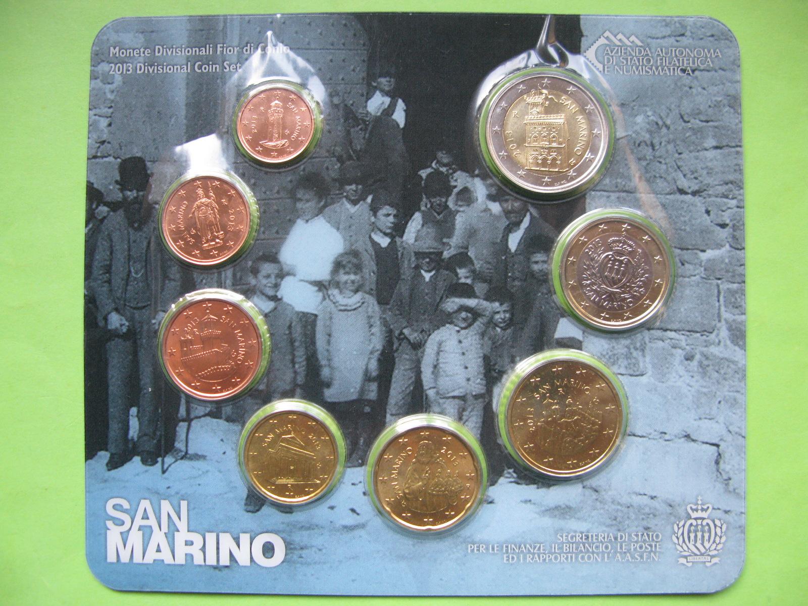 Сан Марино набор евро 2013 г. UNC