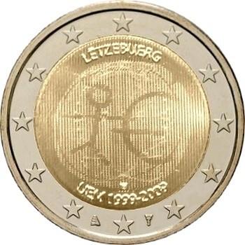 Люксембург 2 евро 2009  10 лет экономическому союзу