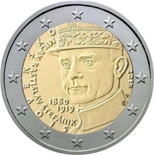 Словакия 2 евро 2019 г. 100 лет со дня смерти Милана Ростислава Штефаника
