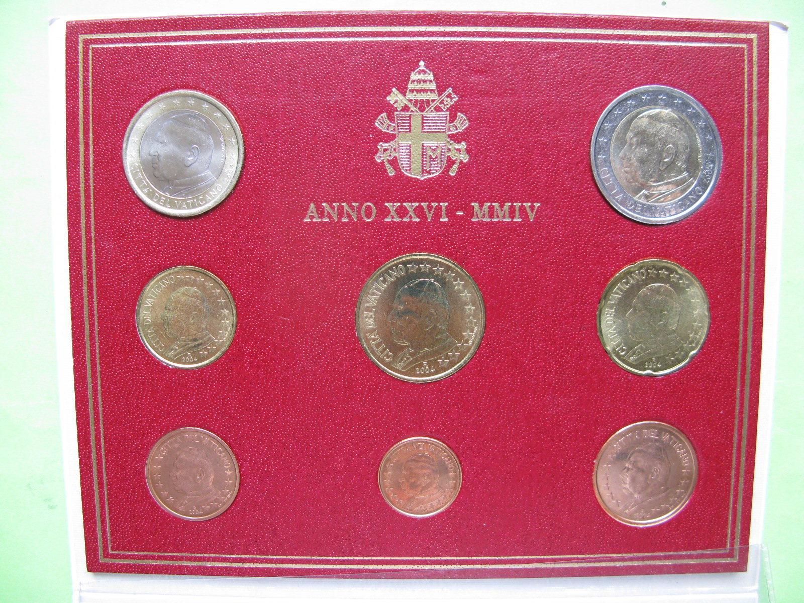Ватикан официальный набор  2004 г.(Папа Иоанн Павел II)