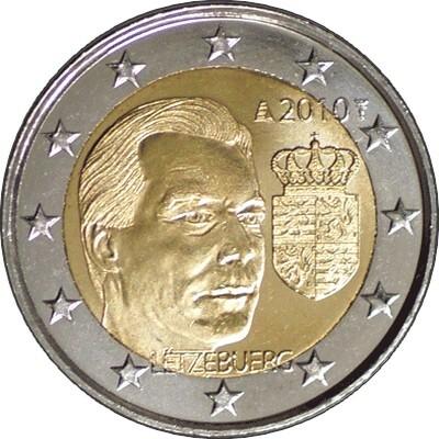 Люксембург 2 евро 2010 Герб Великого Герцога