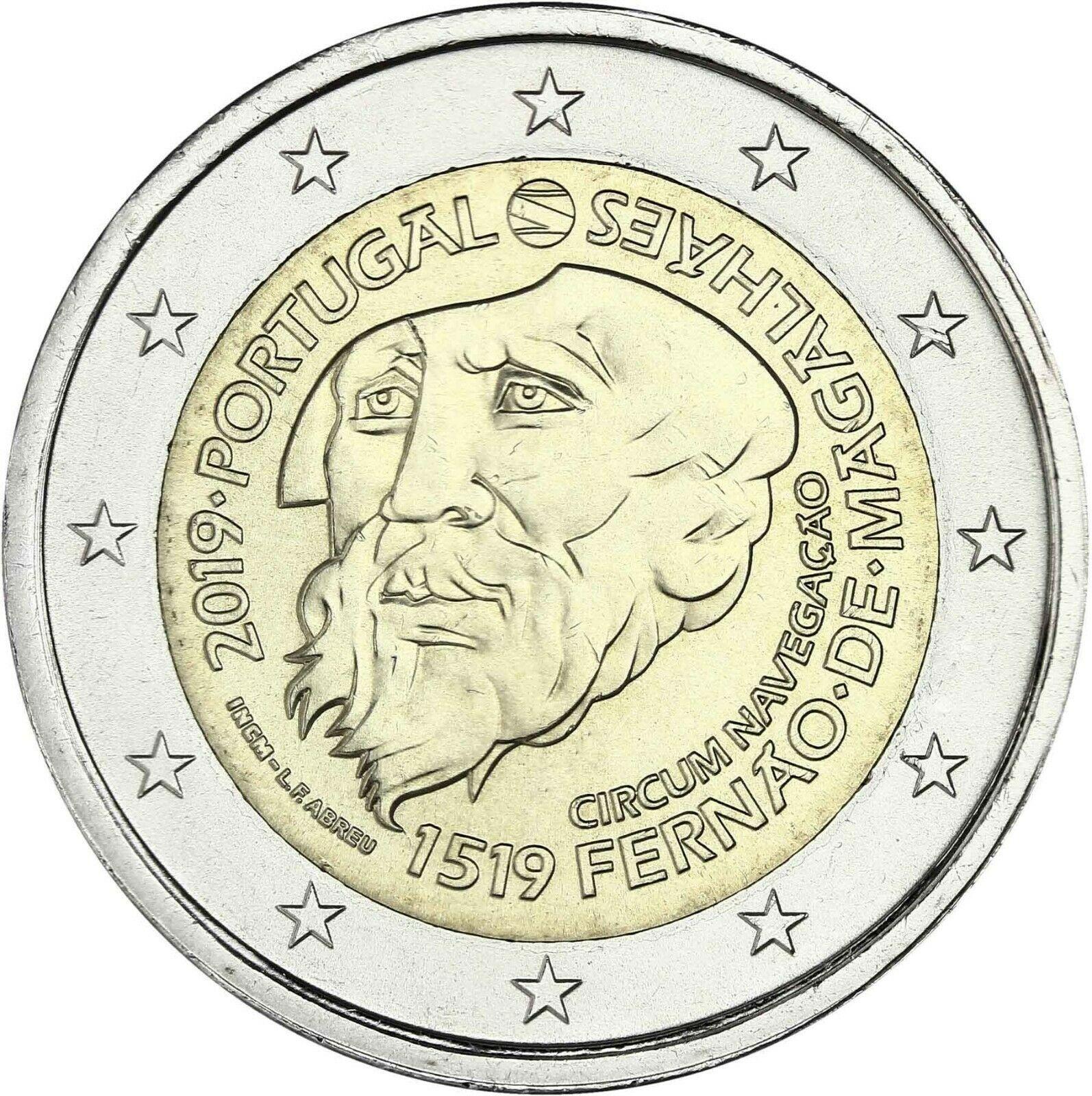 Португалия 2 евро 2019 г. 500-летие кругосветного плавания Магеллана