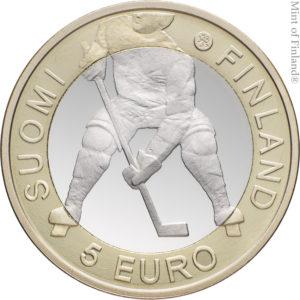 Финляндия 5 евро 2012 г. Чемпионат мира по хоккею
