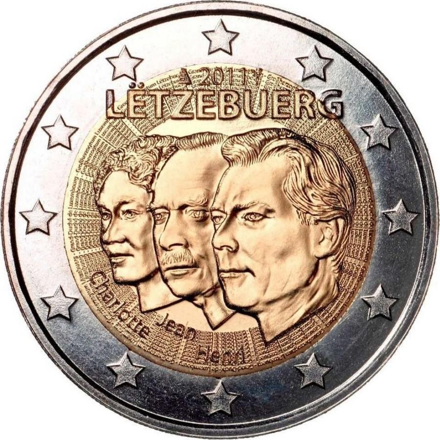 Люксембург 2 евро 2011 Герцог Жан