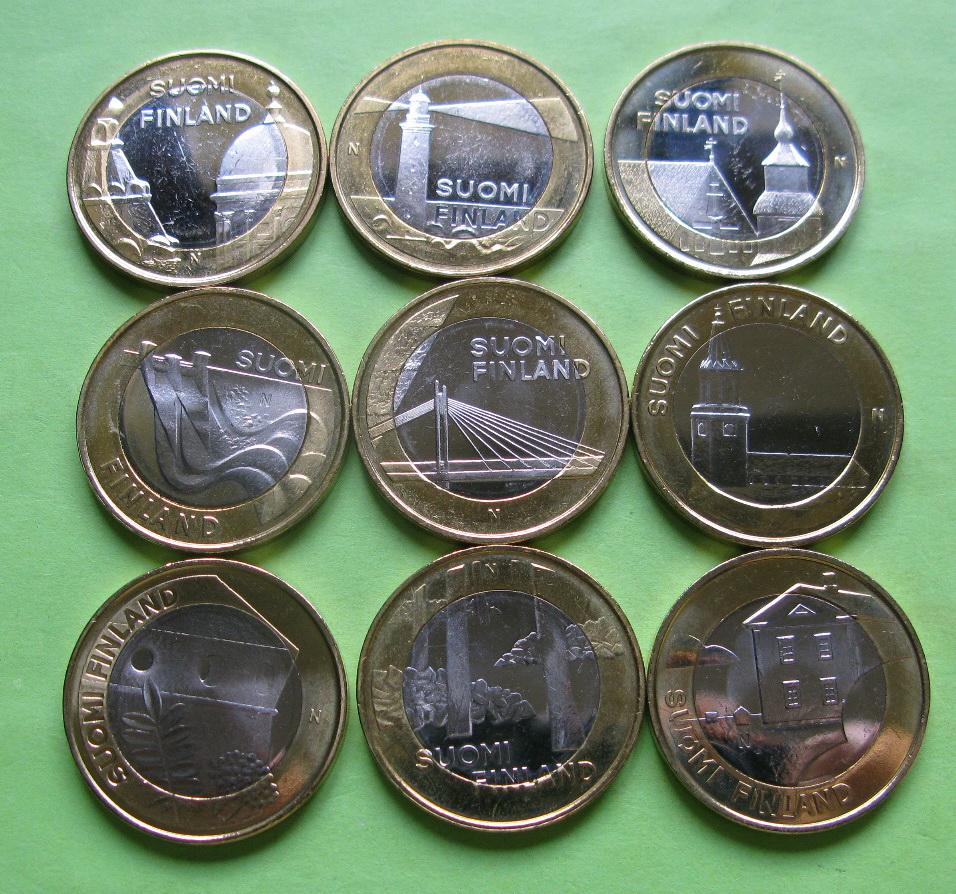 Финляндия 5 евро 2012-2013 г. Архитектура провинций