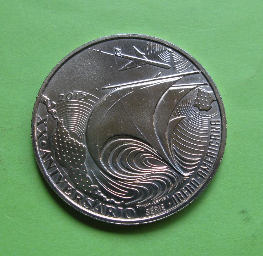 Португалия 10 евро 2012  20-лет Иберо-американской серии