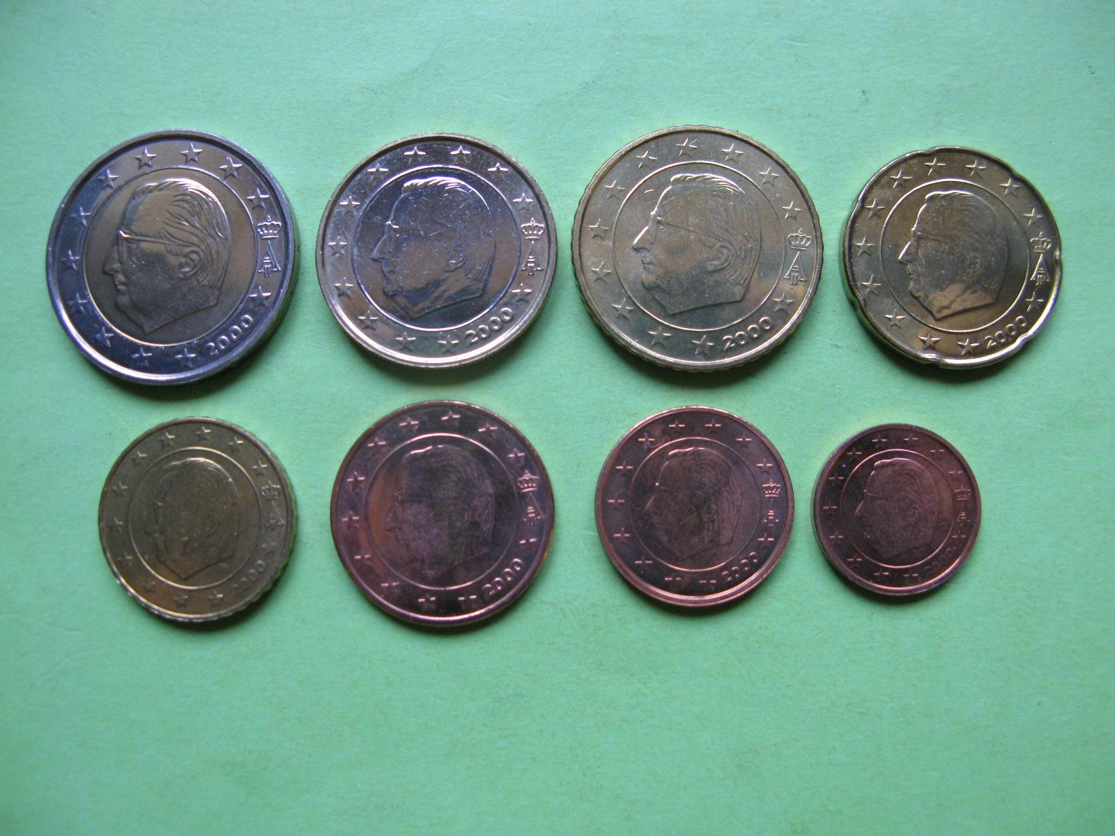 Бельгия набор евро 2000  UNC