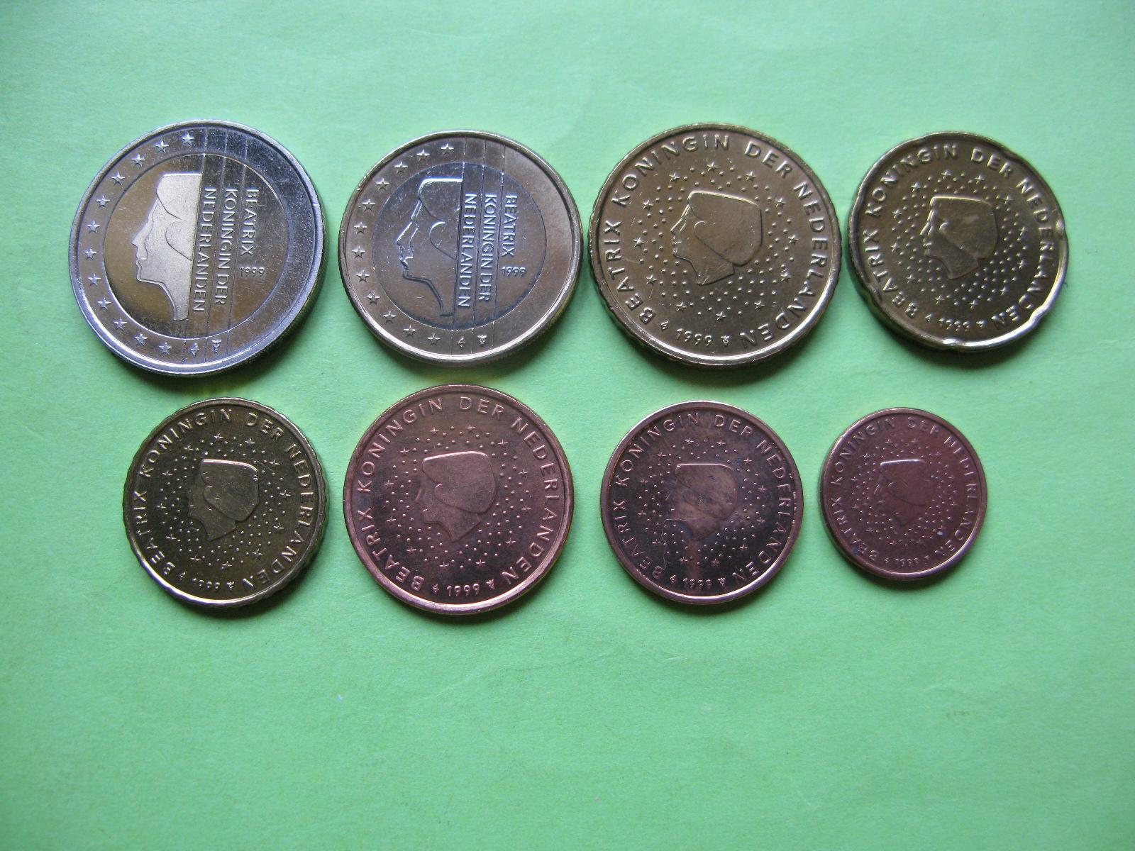 Нидерланды набор евро 1999 г. UNC