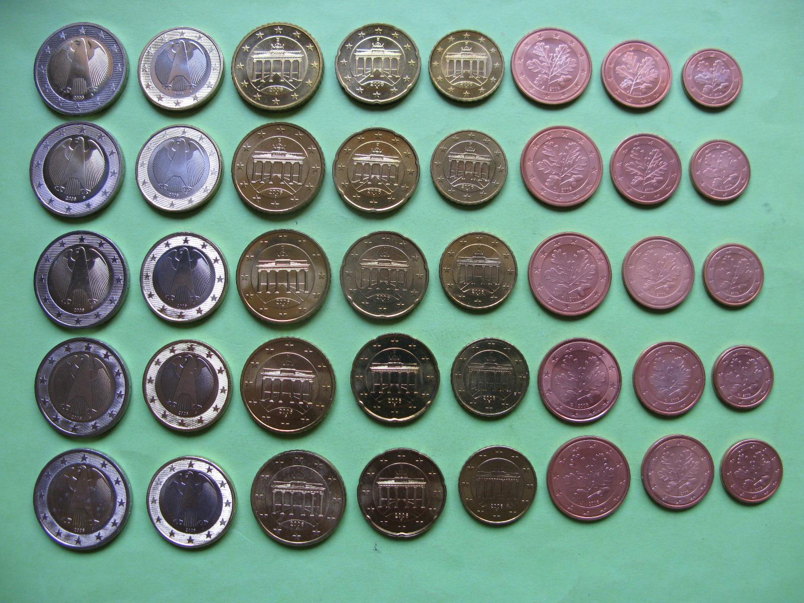 Германия набор евро 2006 г . A,D,F,G,J  UNC