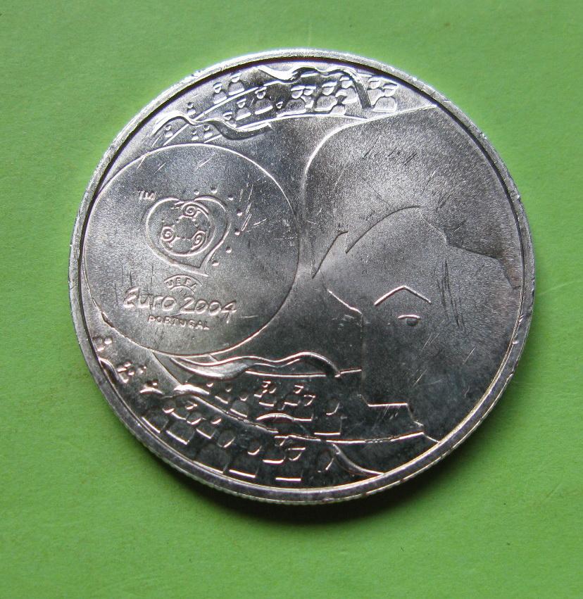 Португалия 8 евро 2004 г. Чемпионат Европы по футболу- удар