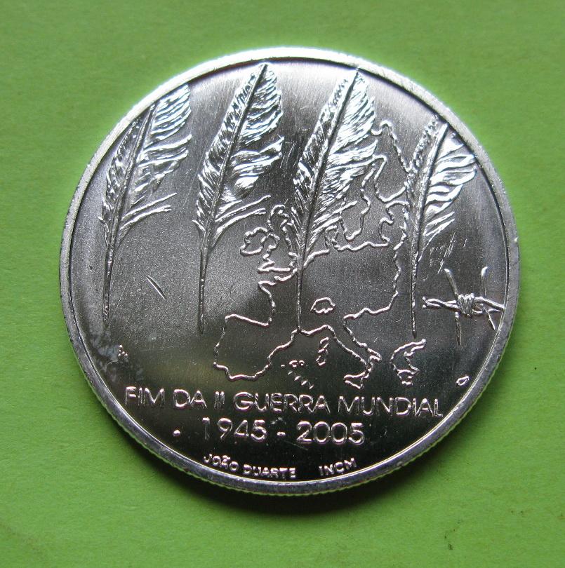 Португалия 8 евро 2005 г. 60 лет окончания Второй мировой войны