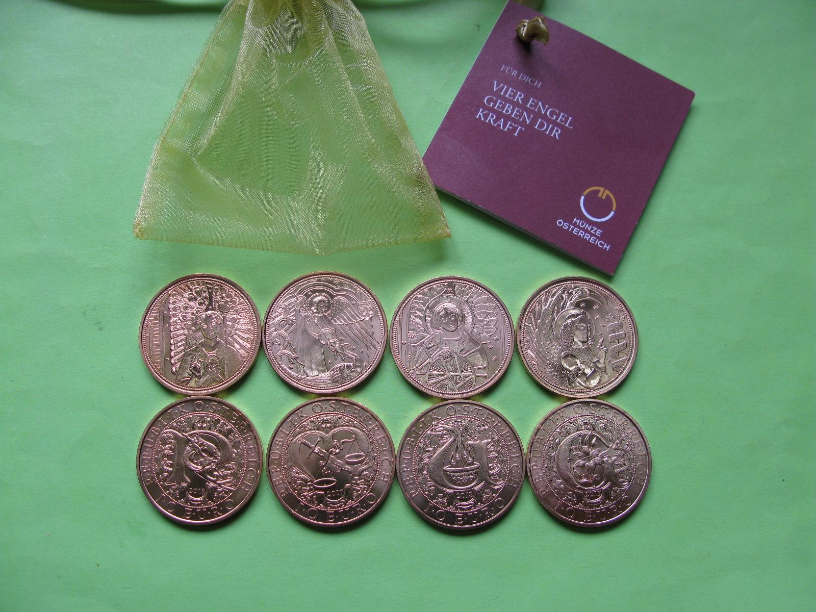 Австрия 10 евро 2017-2018 г. Комплект 4 архангелов.