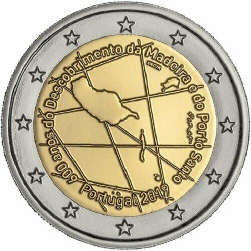Португалия 2 евро 2019 г. 600-летие открытия острова Мадейра.