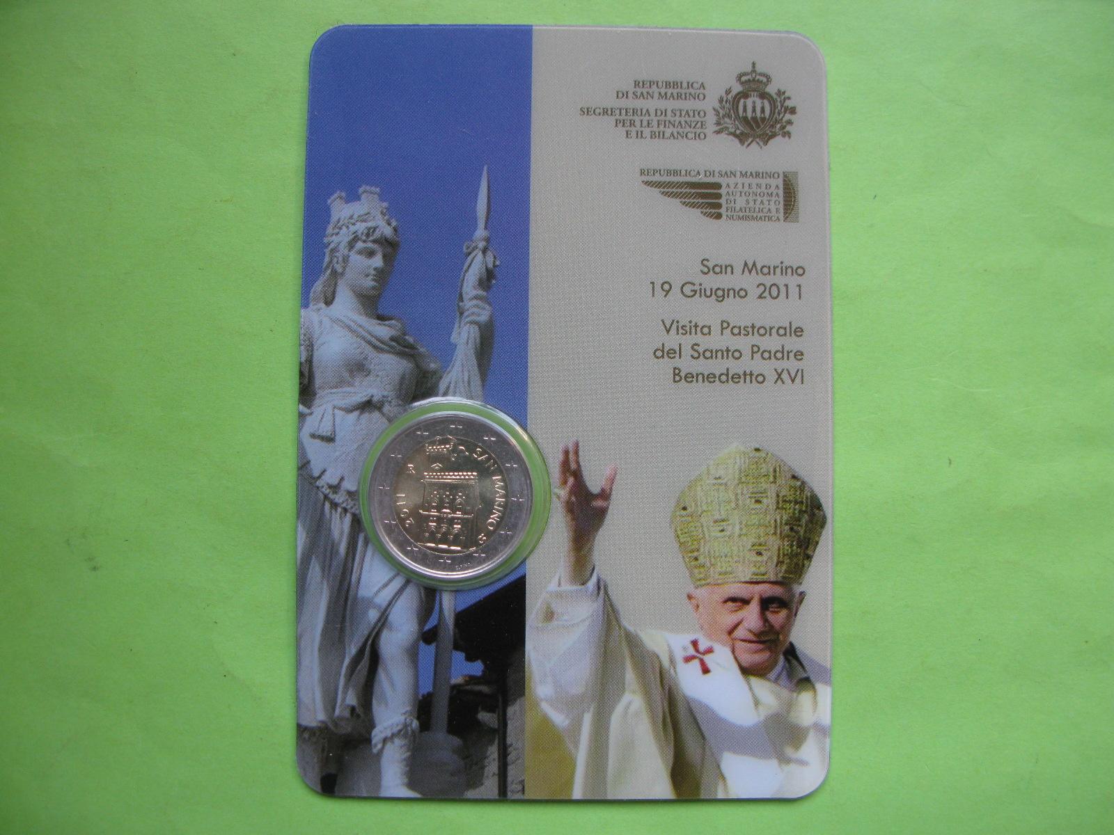 Сан Марино 2 евро 2011 г. (в карточке)