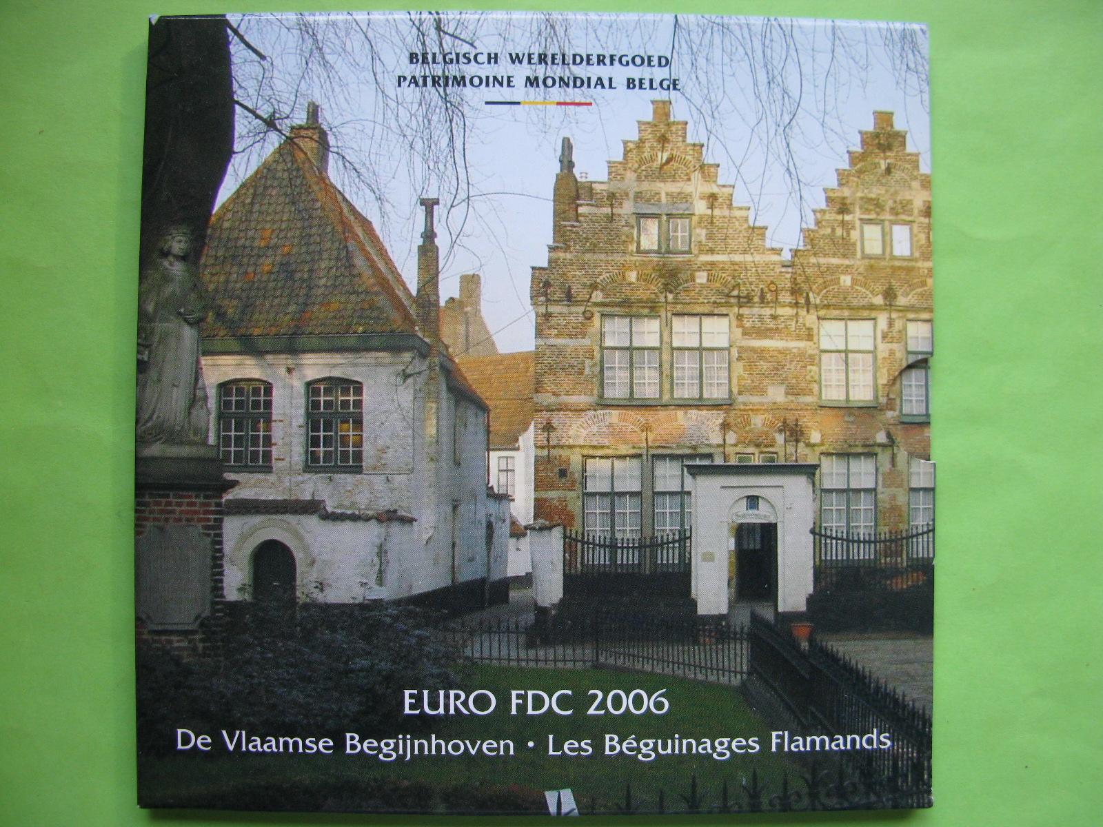 Бельгия официальный набор евро 2006 г.