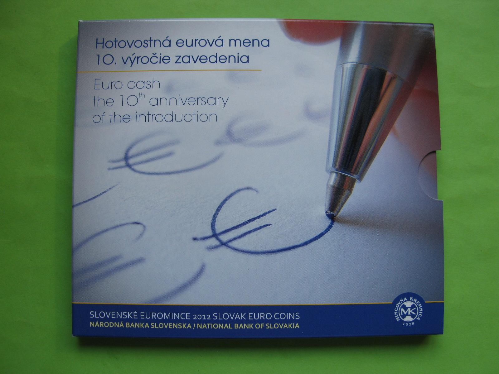 Словакия официальный набор евро 2012 г.