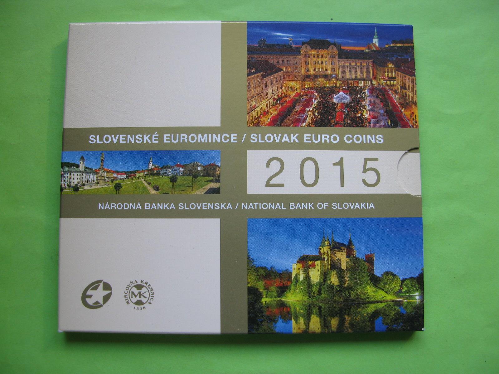 Словакия официальный набор евро 2015 г.