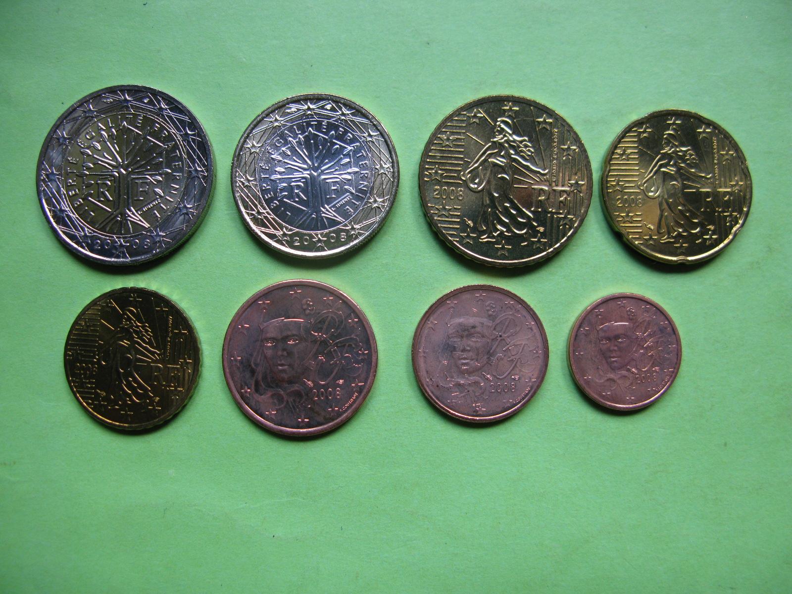 Франция набор евро 2008 г. UNC