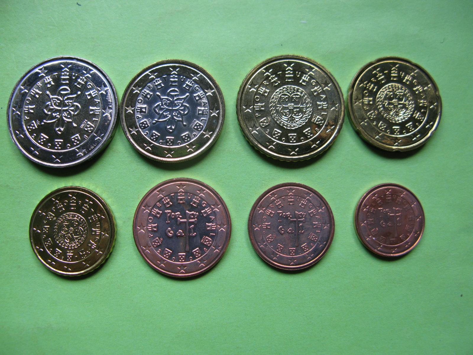 Португалия набор евро 2008 г. UNC