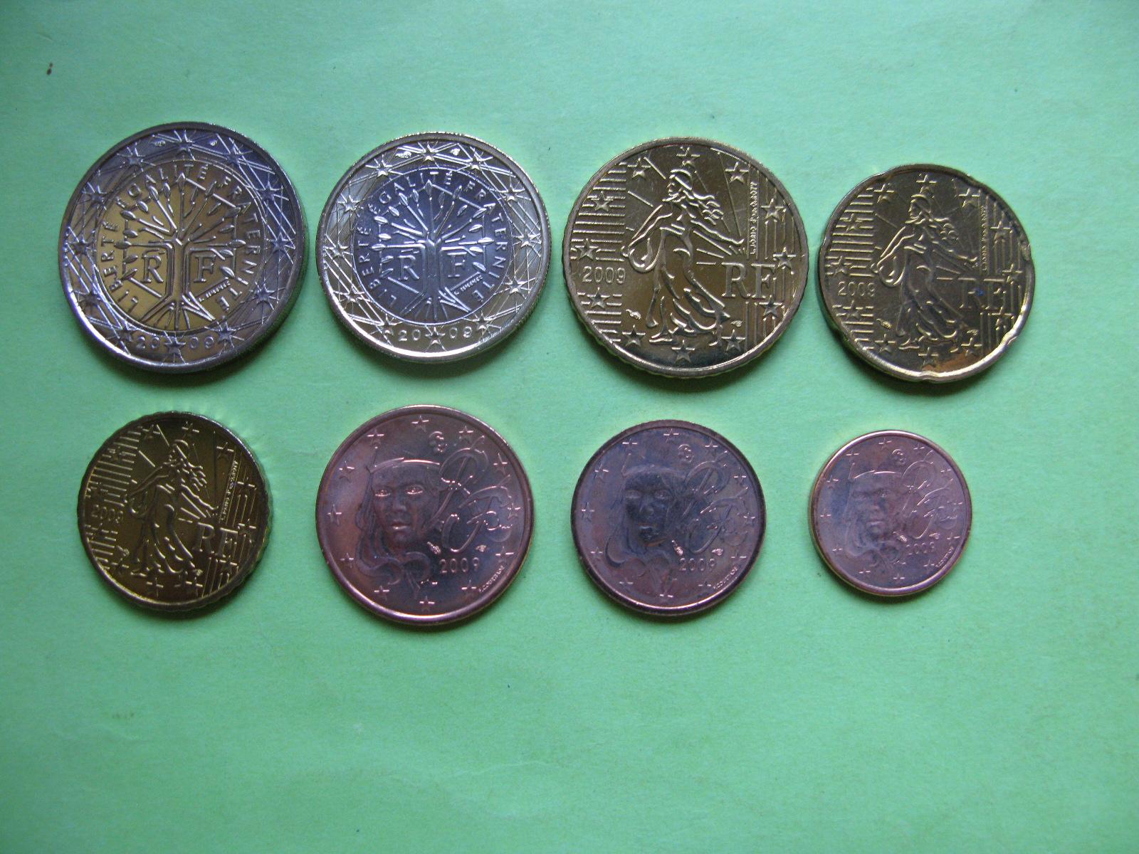Франция набор евро 2009 г. UNC