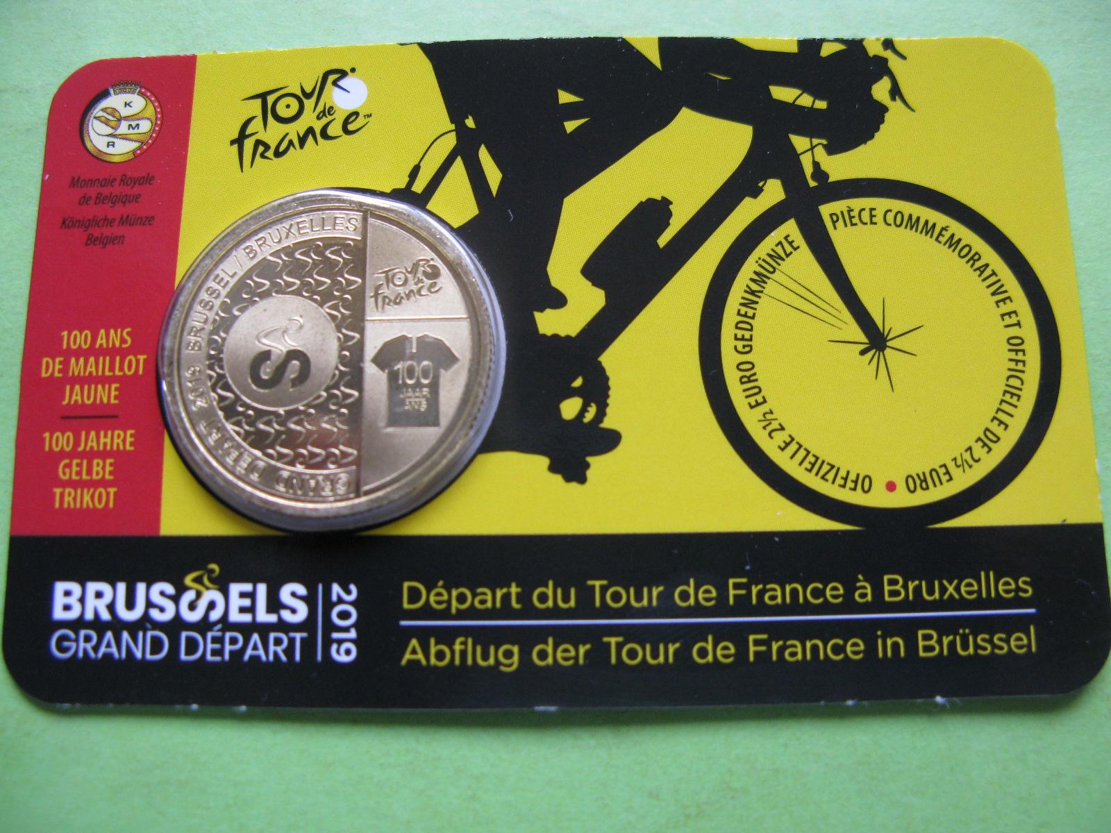 Бельгия 2,5 евро 2019 г. Велогонка Тур-де Франс.