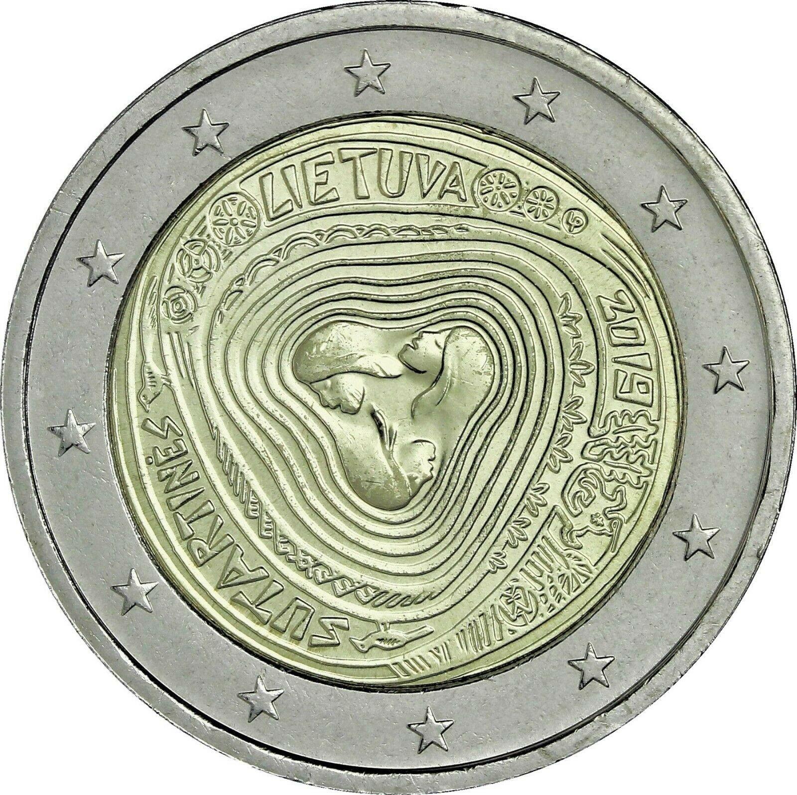 Литва 2 евро 2019 г. Литовские народные песни - Сутартины