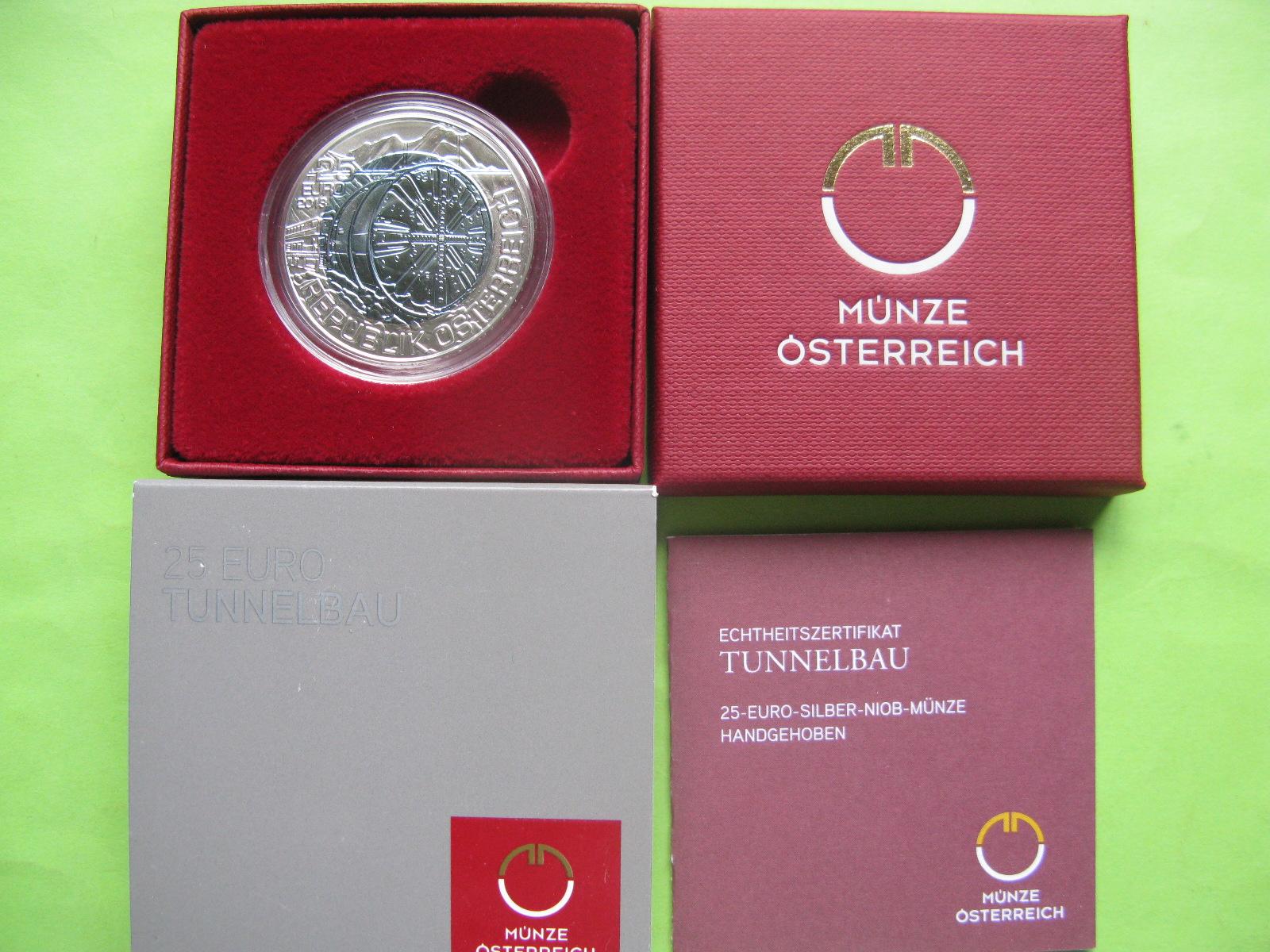 Австрия 25 евро 2013 г. Прокладка тоннелей