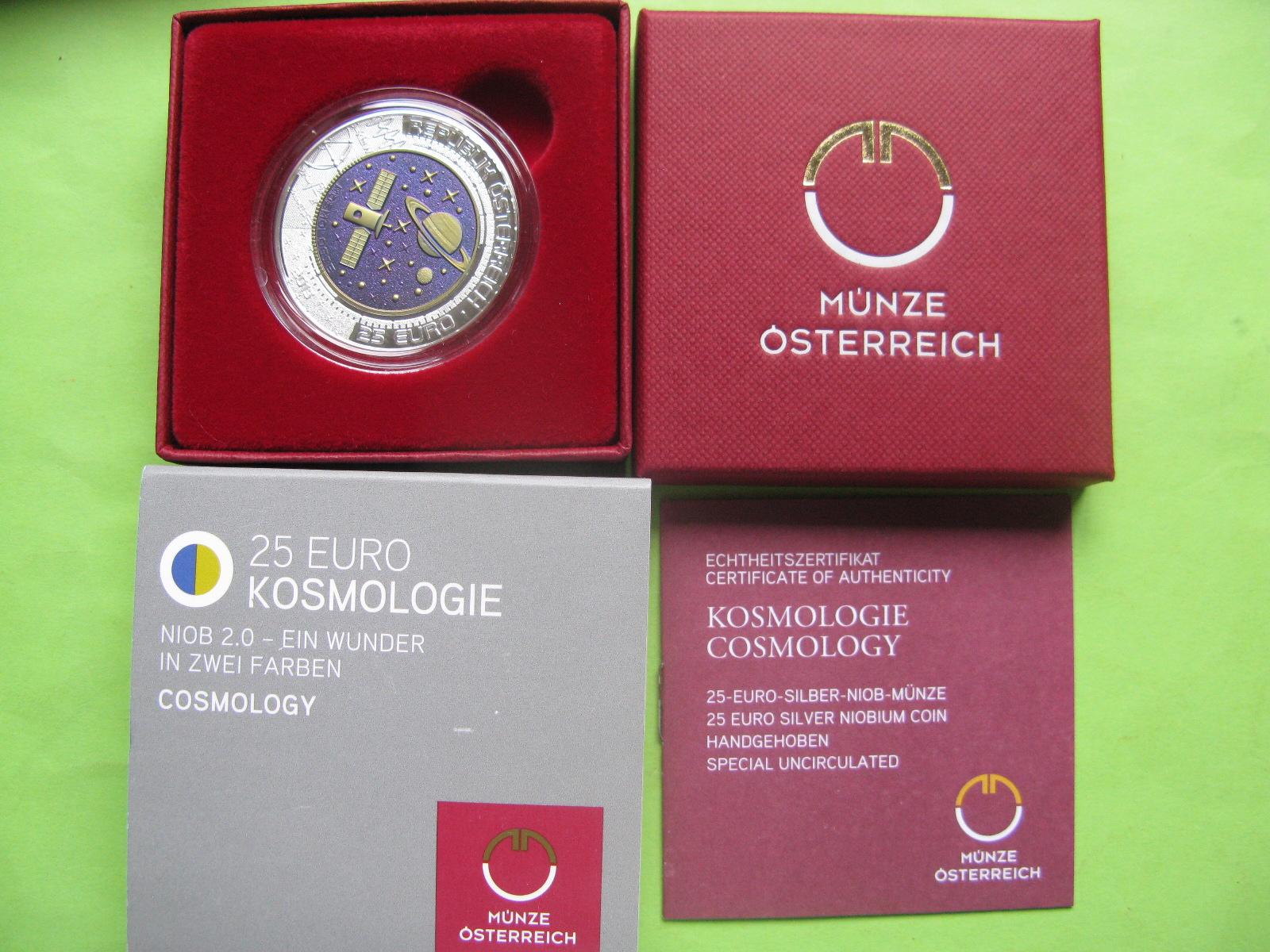 Австрия 25 евро 2015 г. Космология