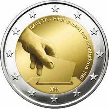 Мальта 2 евро 2011 г. Первые избранные представители совета
