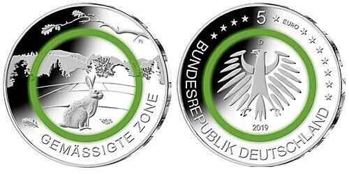 Германия 5 евро 2019 г. G