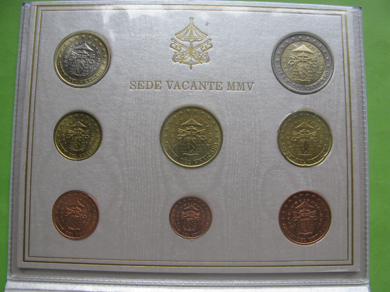 Ватикан официальный набор 2005 г. Вакантный престол (Sede Vacante)