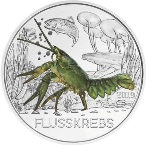 Австрия 3 евро 2019 г. Рак