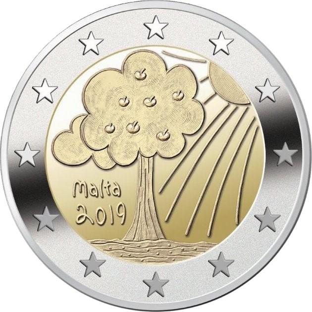 Мальта 2 евро 2019 г. Природа и окружающая среда.