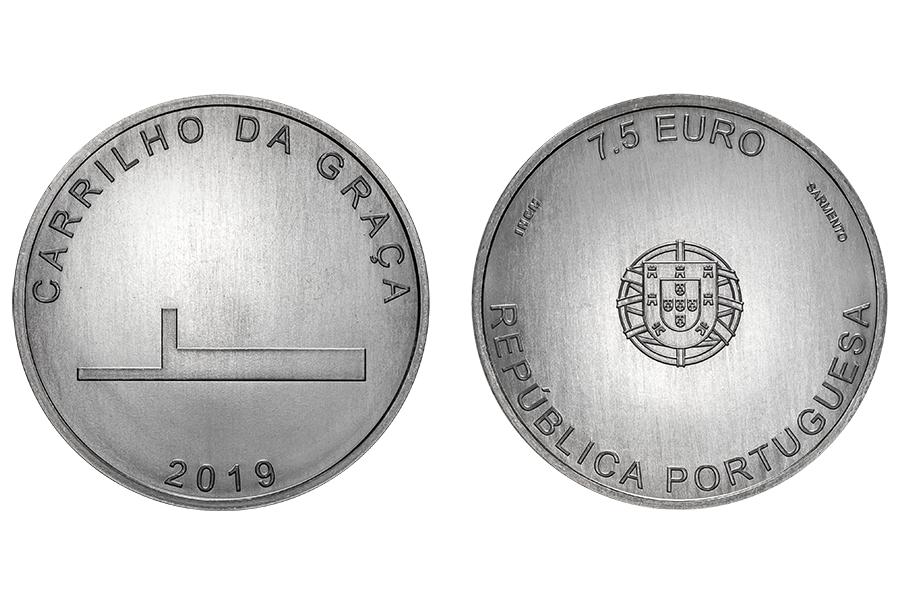 Португалия 7,5 евро 2019 г. Архитектор - Жуан Луис Каррильо да Граса