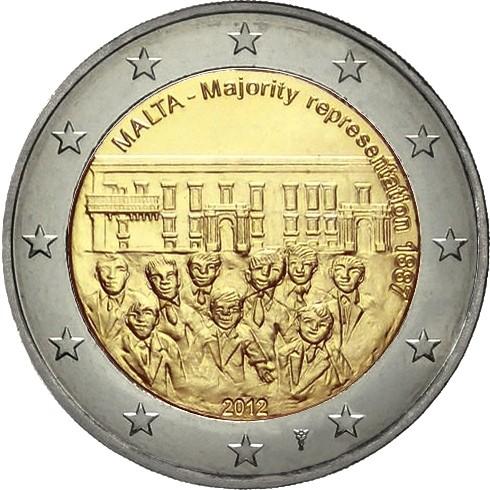 Мальта 2 евро 2012 г.  Совет большинства 1887 г.