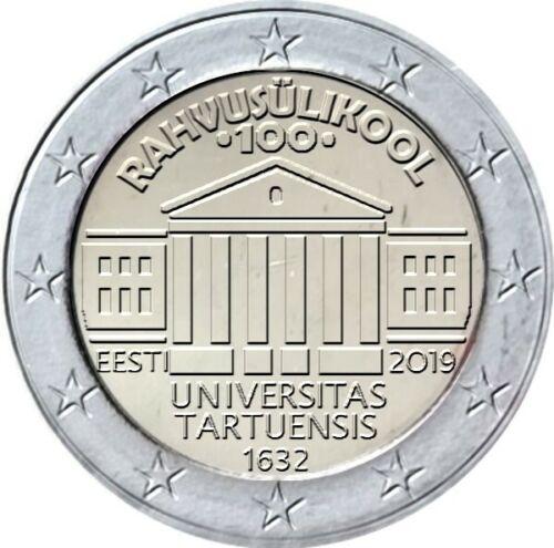 Эстония 2 евро 2019 г. 100-летие перевода обучения на эстонский язык Тартуского университета
