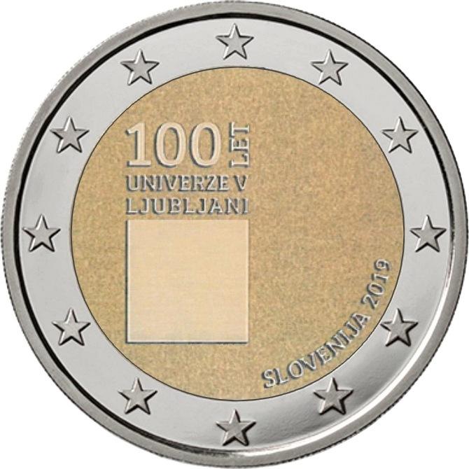 Словения 2 евро 2019 г. 100-летие со дня основания Люблянского университета