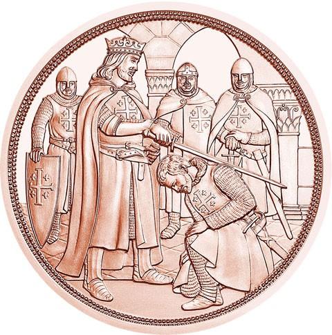 Австрия 10 евро 2019 г. С кольчугой и мечом - приключение