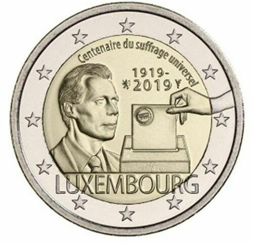 Люксембург 2 евро 2019  100-летие универсального права голоса