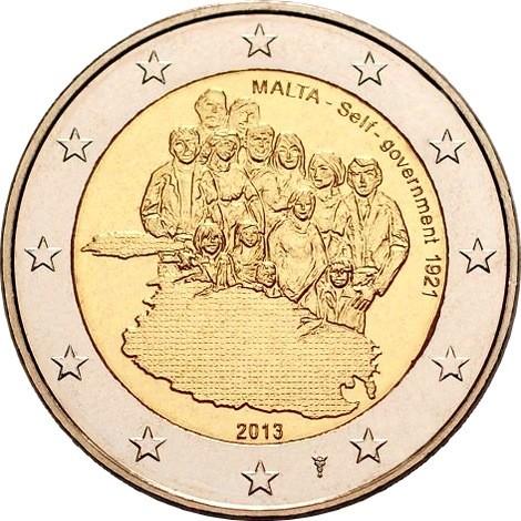 Мальта 2 евро 2013 г.  Собственное правительство 1921 г.