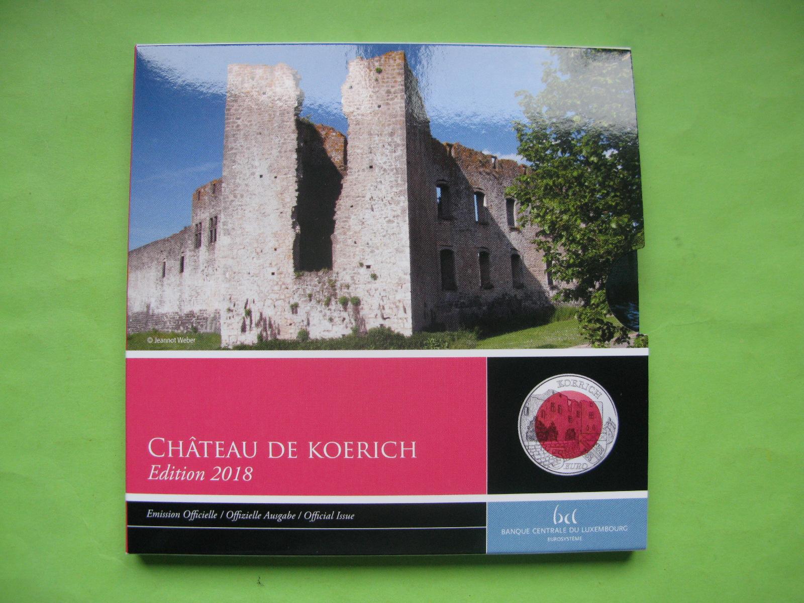 Люксембург 5 Евро 2018 Замок Кёрих