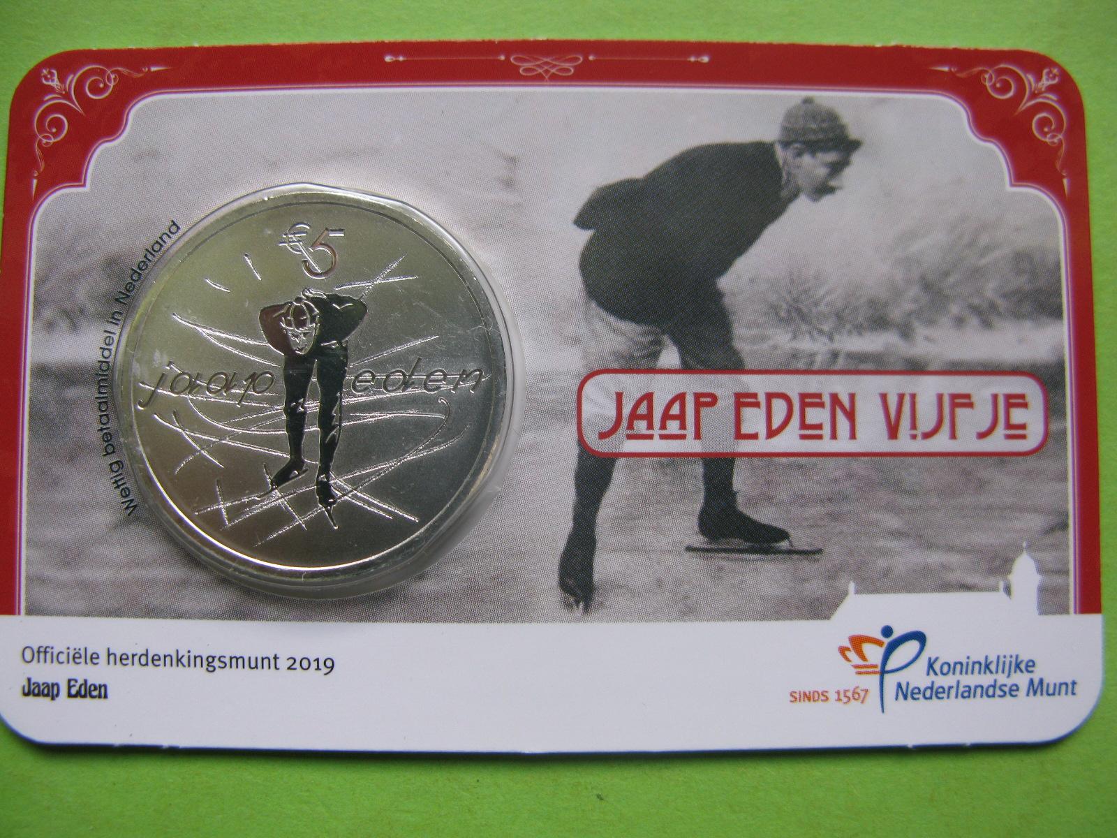 Нидерланды 5 евро 2019 г. Яап Эден