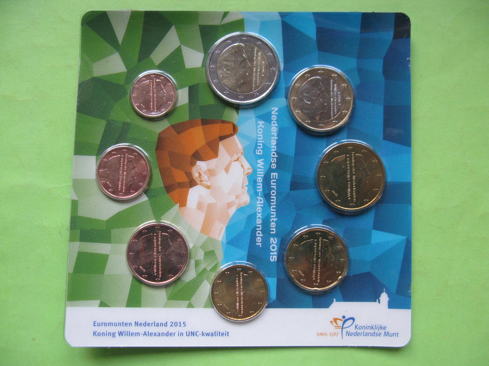 Нидерланды , официальный набор евро  2015 г.