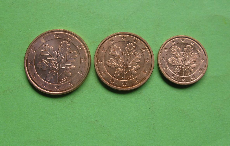 Германия 1,2,5 центов 2002 J