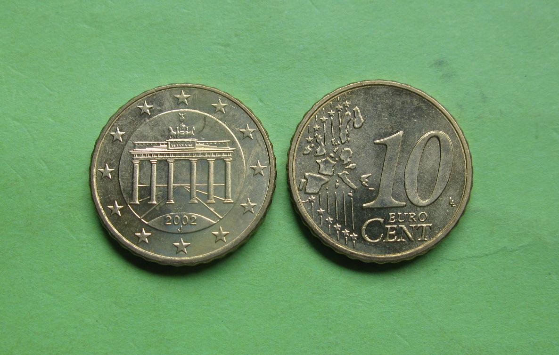 Германия 10 евро центов 2002 J