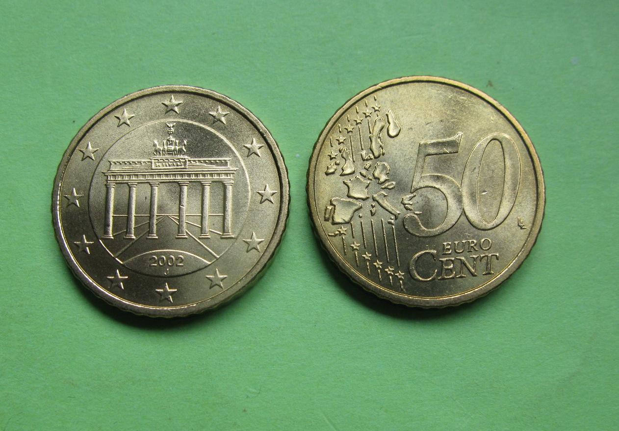 Германия 50 евро центов 2002 J