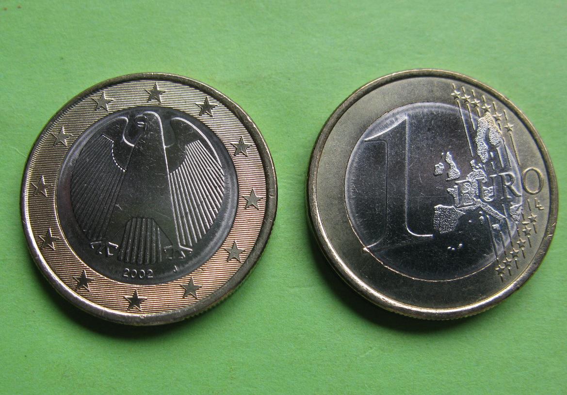 Германия 1 евро  2002 J