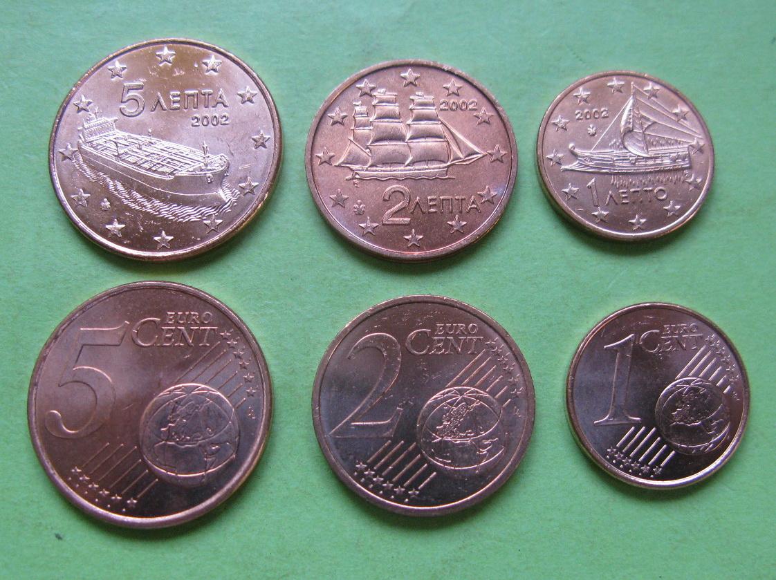 Греция 1,2,5 центов 2011 г.