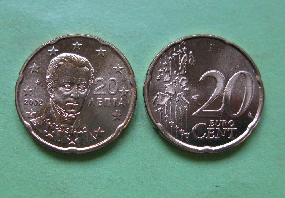 Греция 20 евро центов 2011 г.
