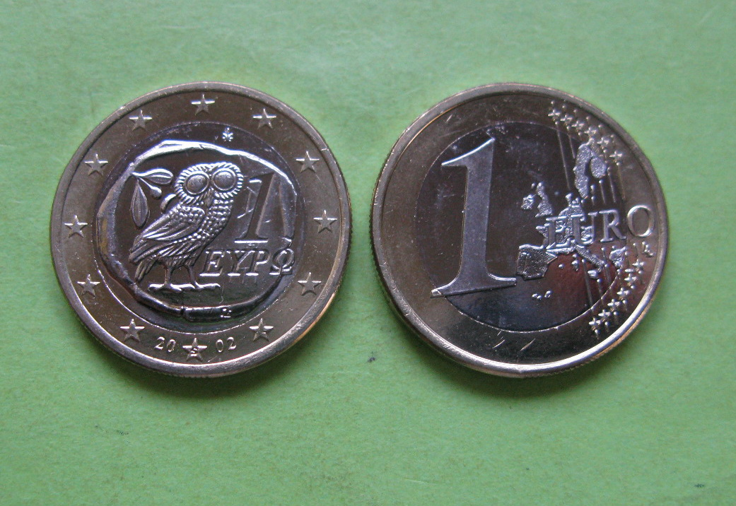 Греция 1 евро  2011 г.